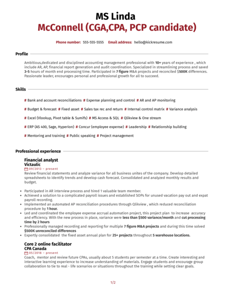Controller at Welded Tube Resume Sample