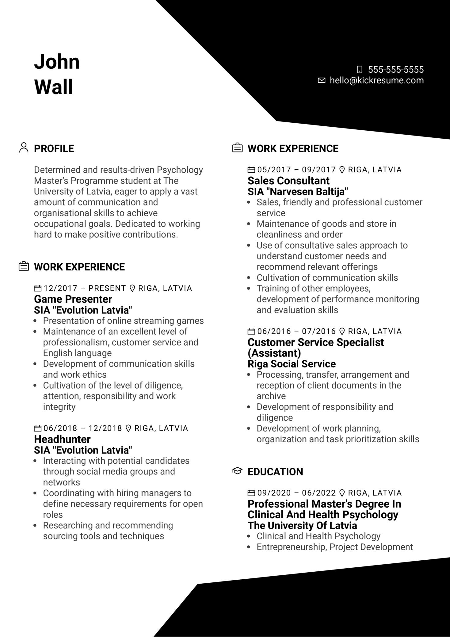 Training Specialist at Evolution Resume Sample (Part 1)