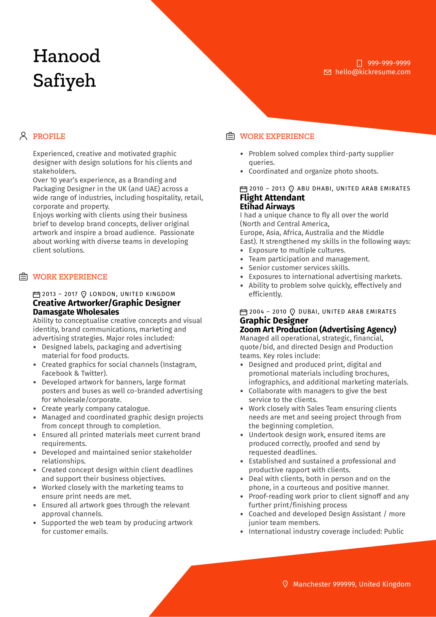 resume examples by real people  mani u00e8re de voir senior graphic designer cv example