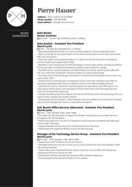 JEA Senior incident manager Resume sample