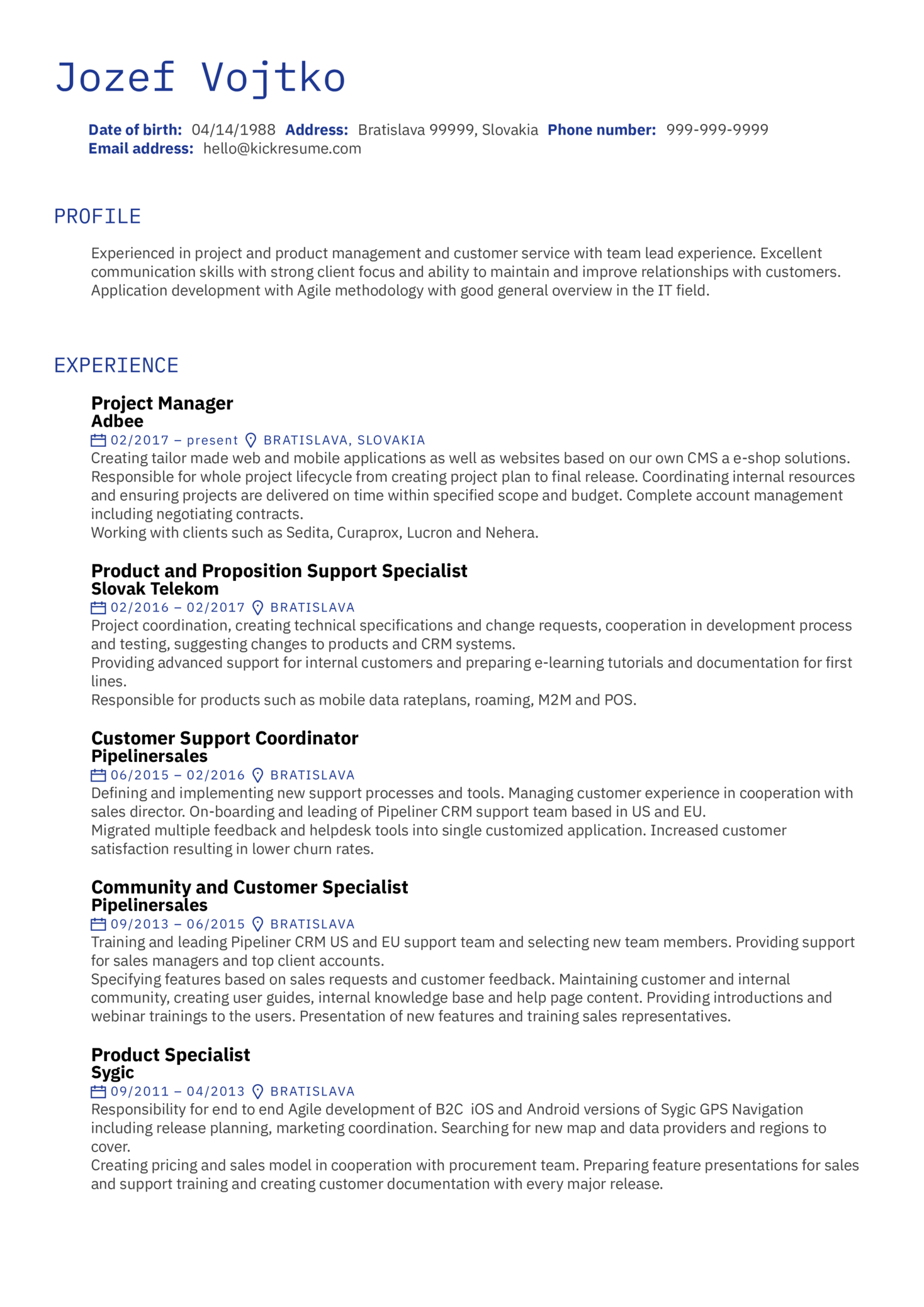 Resume Examples By Real People Several Project Manager Cv