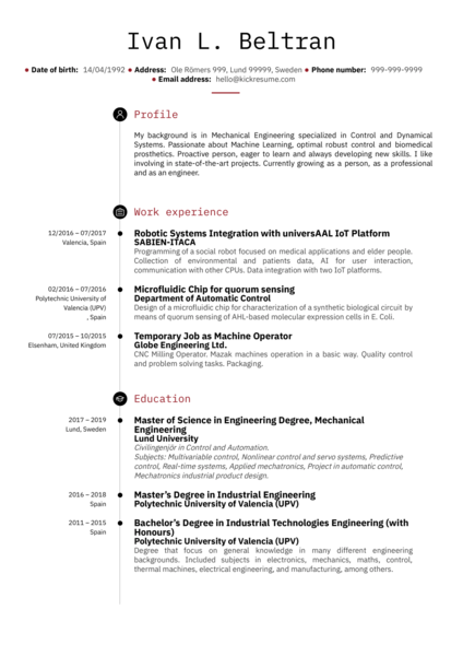 Engineering Resume Samples From Real Professionals Who Got Hired