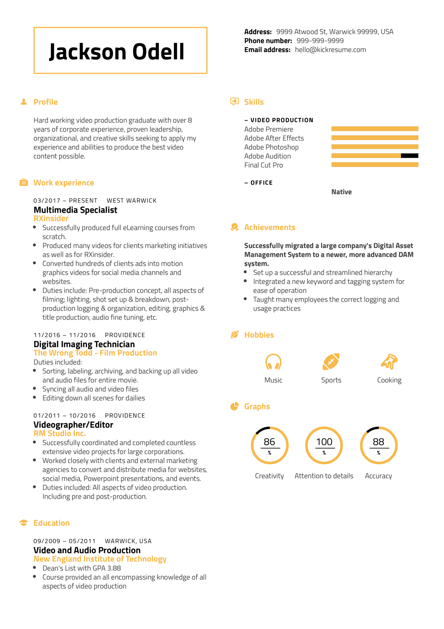 resume examples by real people  rxinsider multimedia
