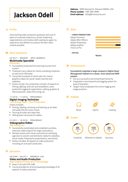 RXinsider Multimedia Specialist CV Sample