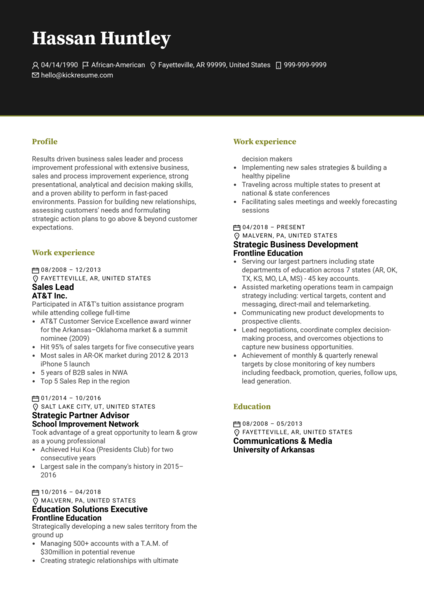 Development Executive at Frontline Education Resume Sample
