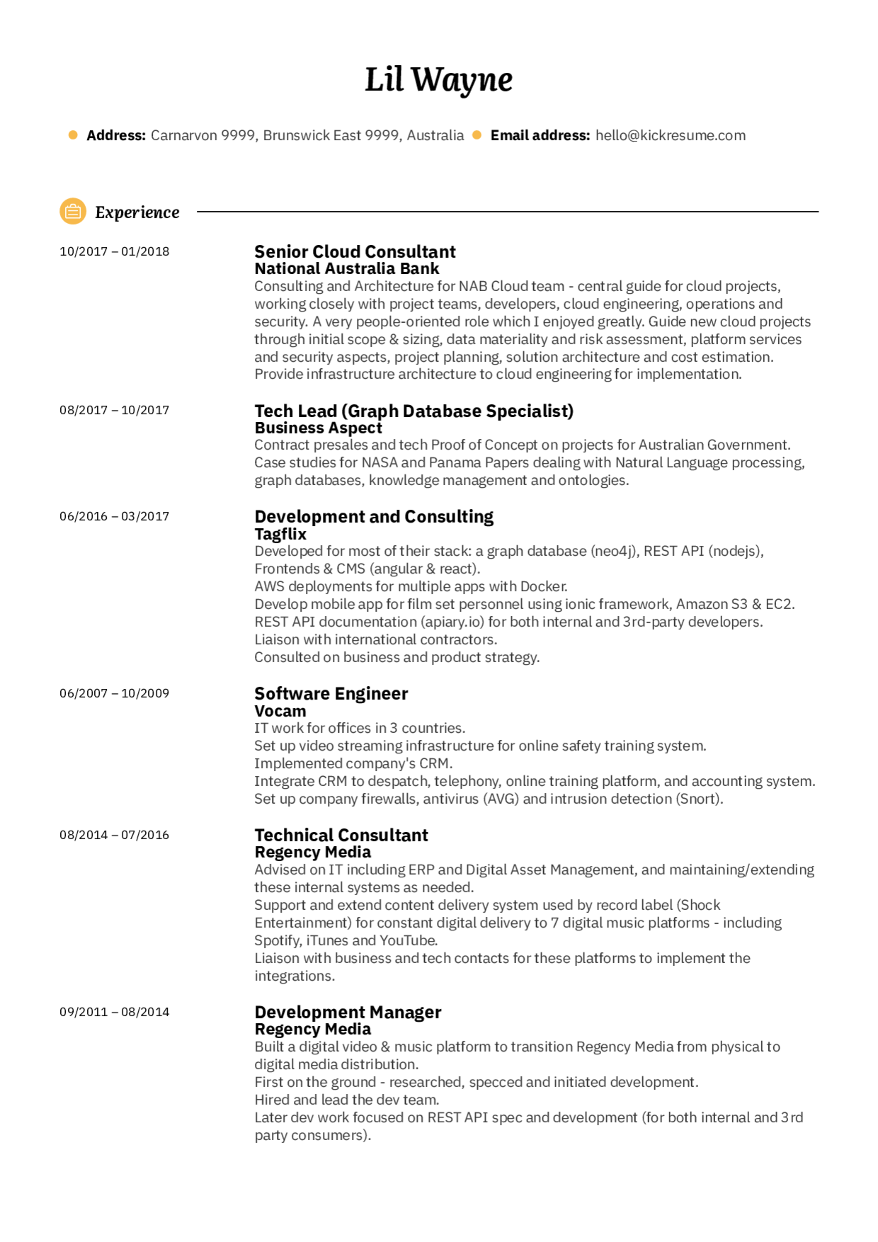 Bank Senior Cloud Architect Resume Sample