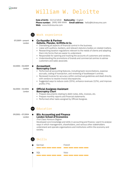 Senior Accountant Resume Sample