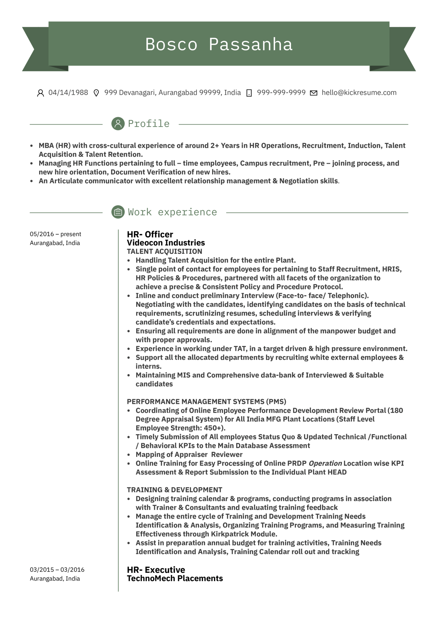 resume examples by real people  human resources assistant