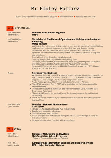 system engineer resume samples