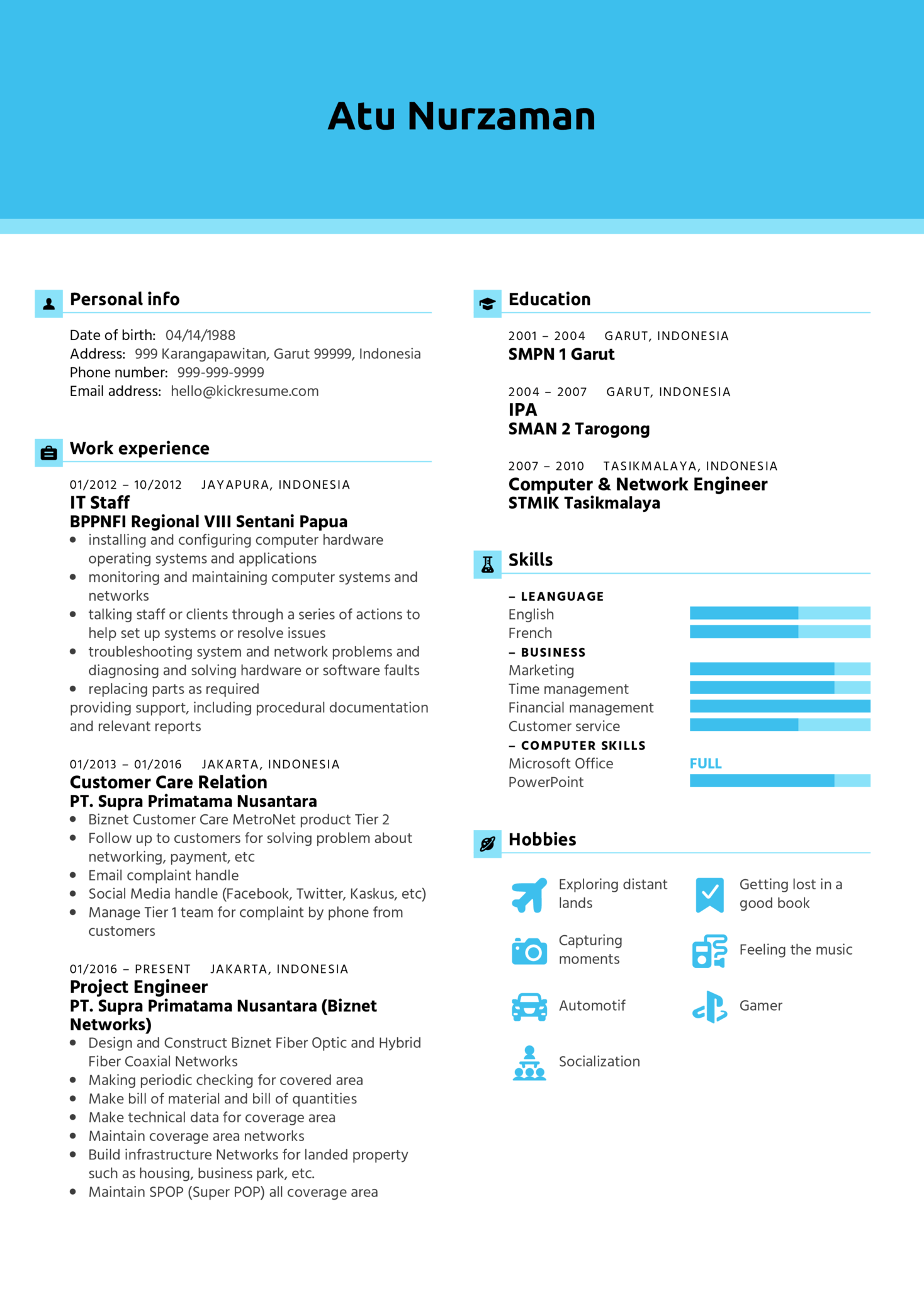 resume examples by real people  project manager resume example