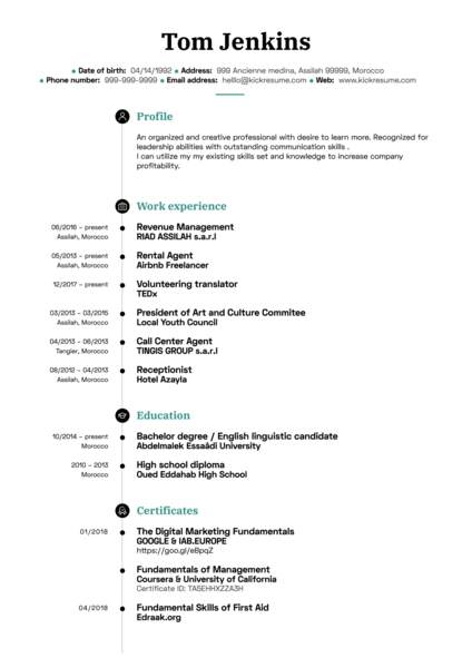 Digital Marketing Coordinator CV Sample