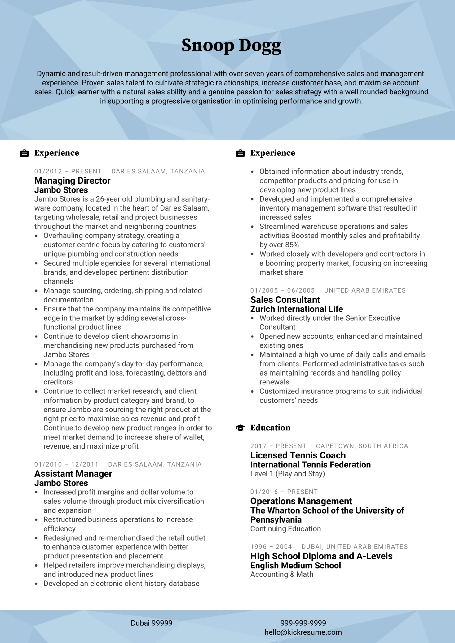 resume examples by real people  assistant manager cv example
