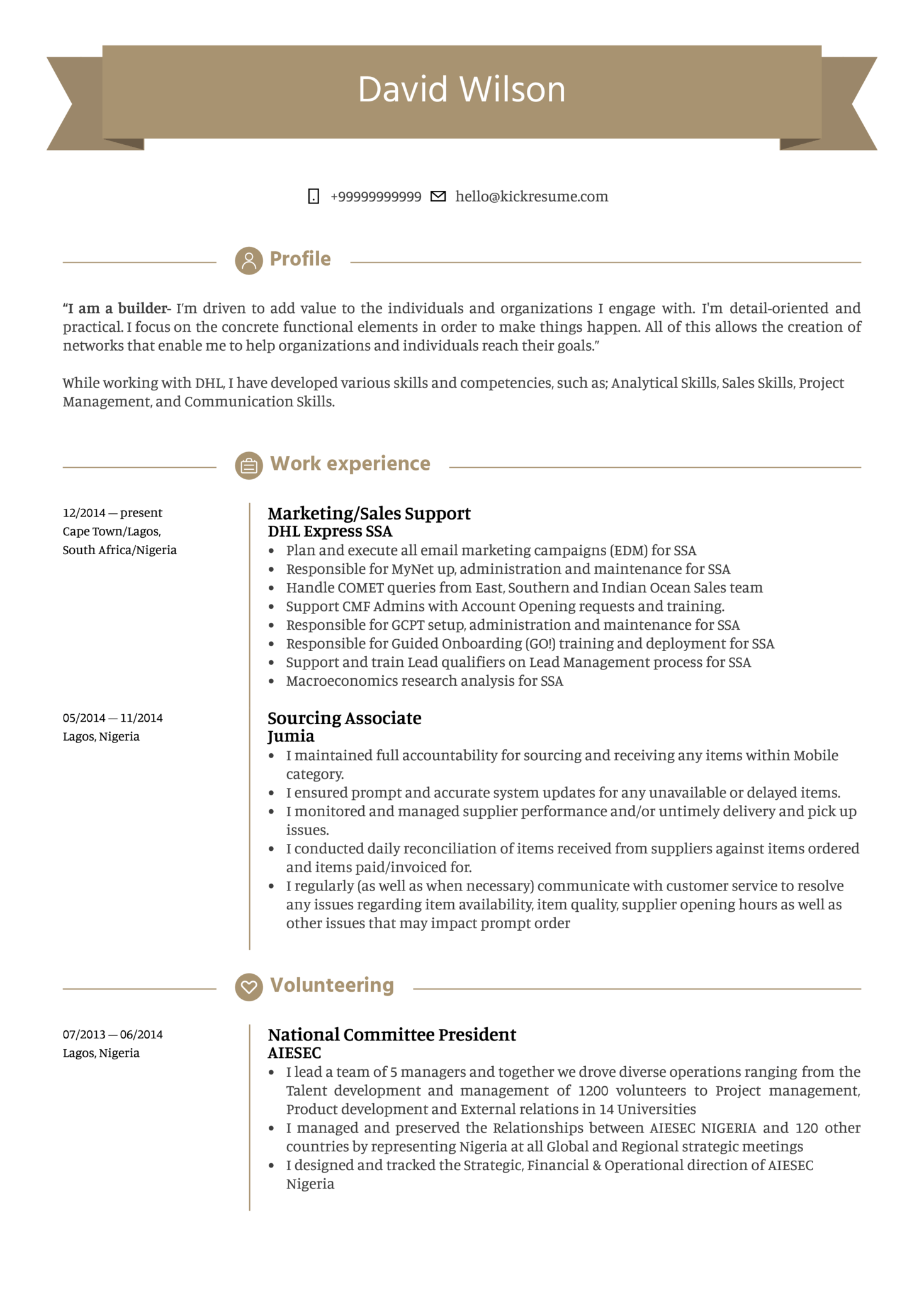 resume examples by real people  sales support resume