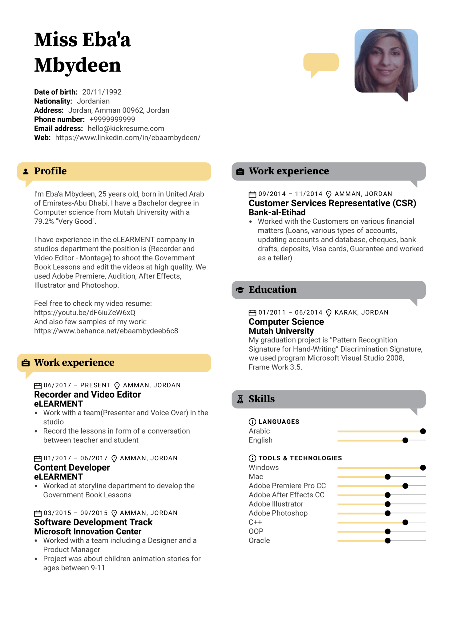 resume examples by real people  video editor resume template