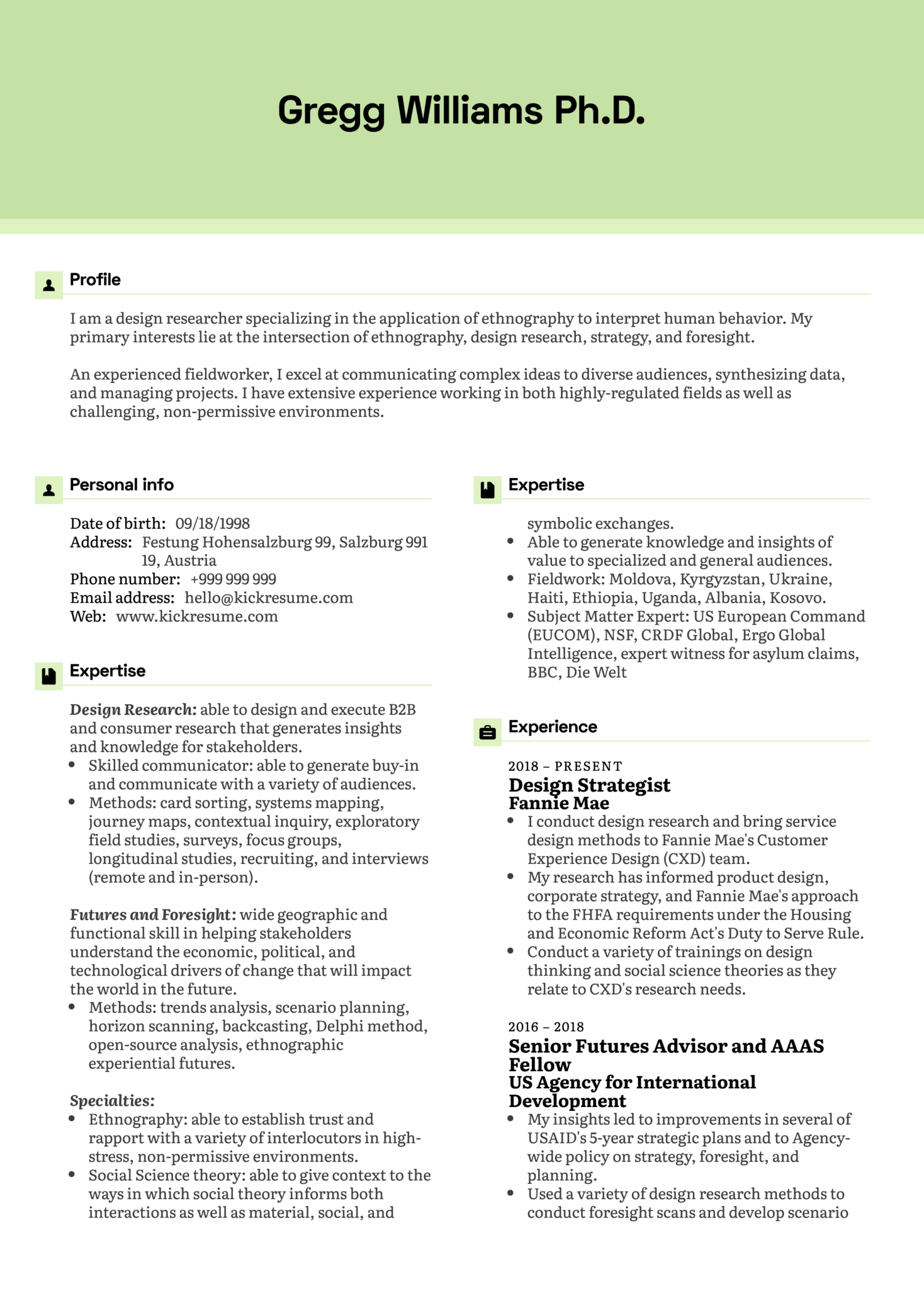 color on resume resume examples by real design strategist cv 1242