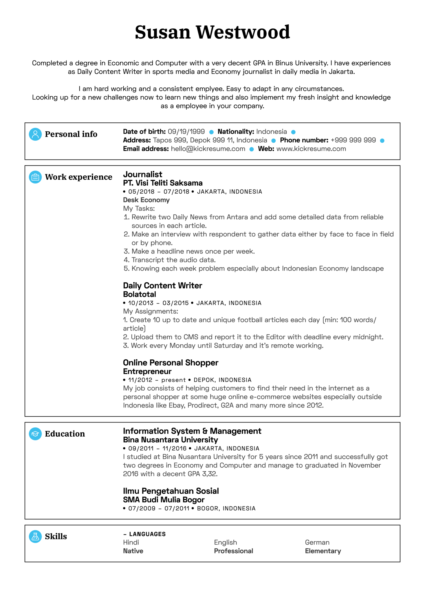Sales Coordinator Resume Sample