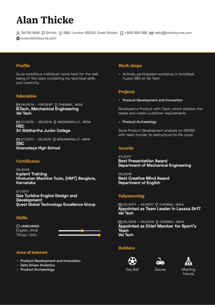 Junior Creative in Advertisement Cv sample