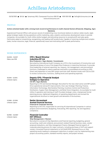 Software Asset Manager Cv sample