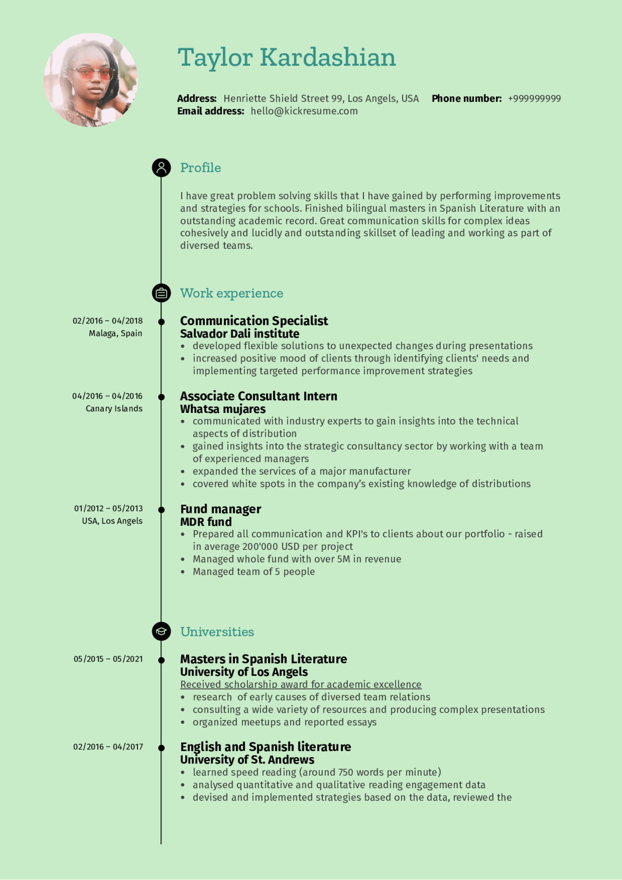 resume examples by real people  business strategy