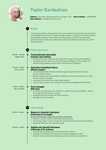 Business Resume Samples from Real Professionals Who got Hired ...