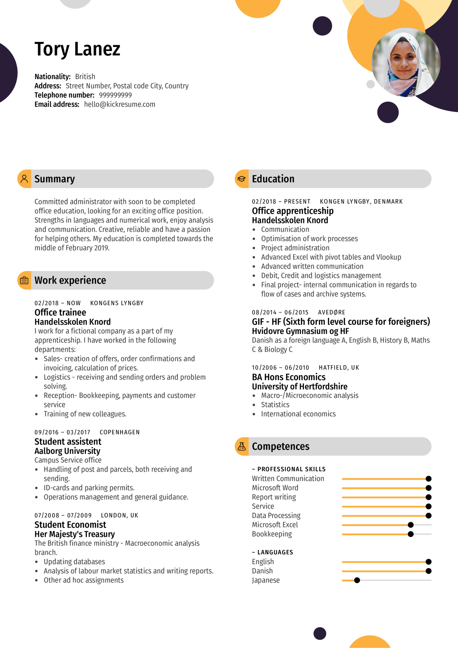 resume examples by real people  office assistant resume example