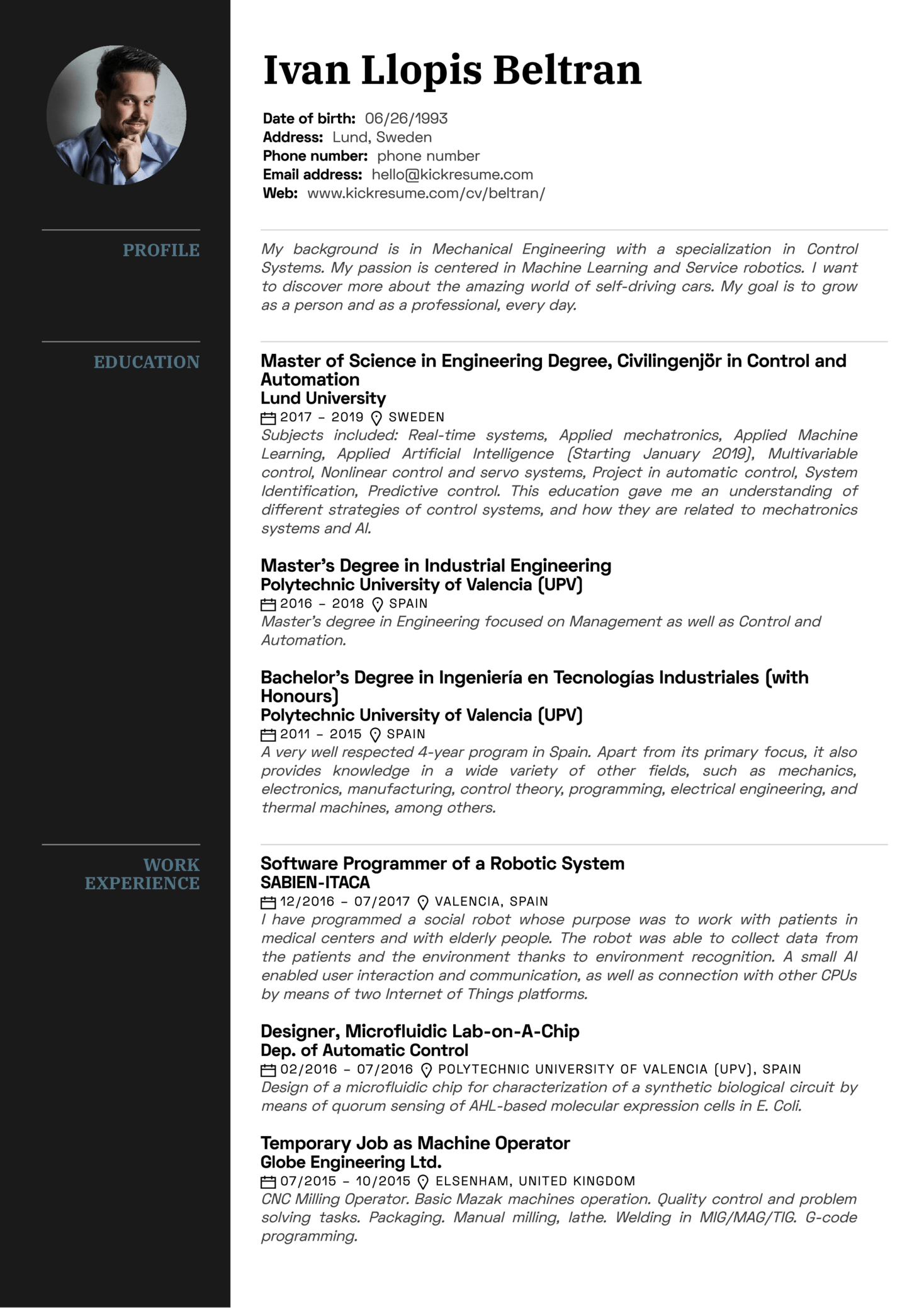 Resume Examples By Real People Volvo Mechanical Engineer