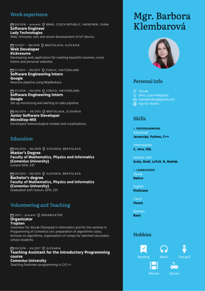 software engineering resume samples from real
