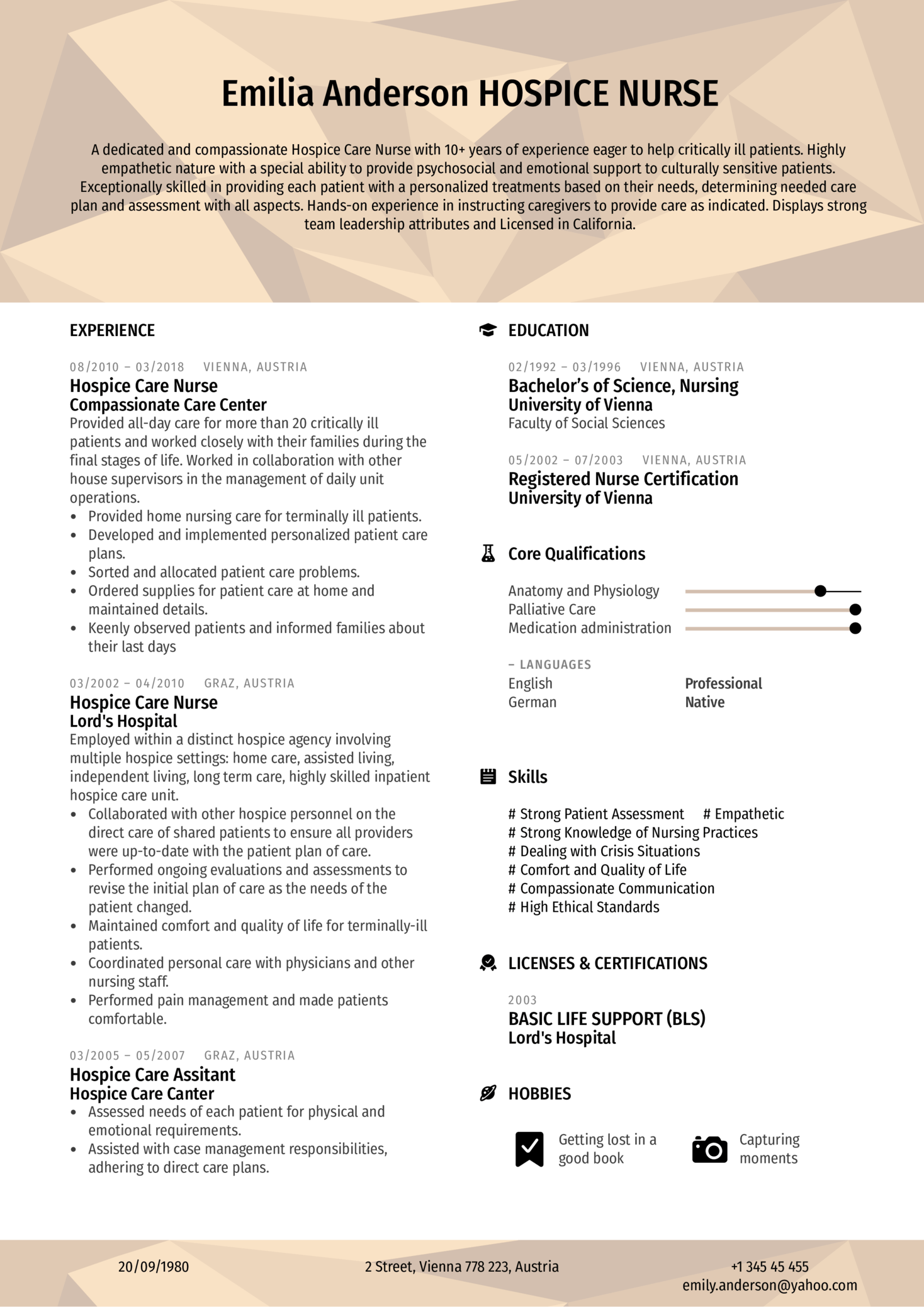 resume examples by real people  hospice care nurse resume sample