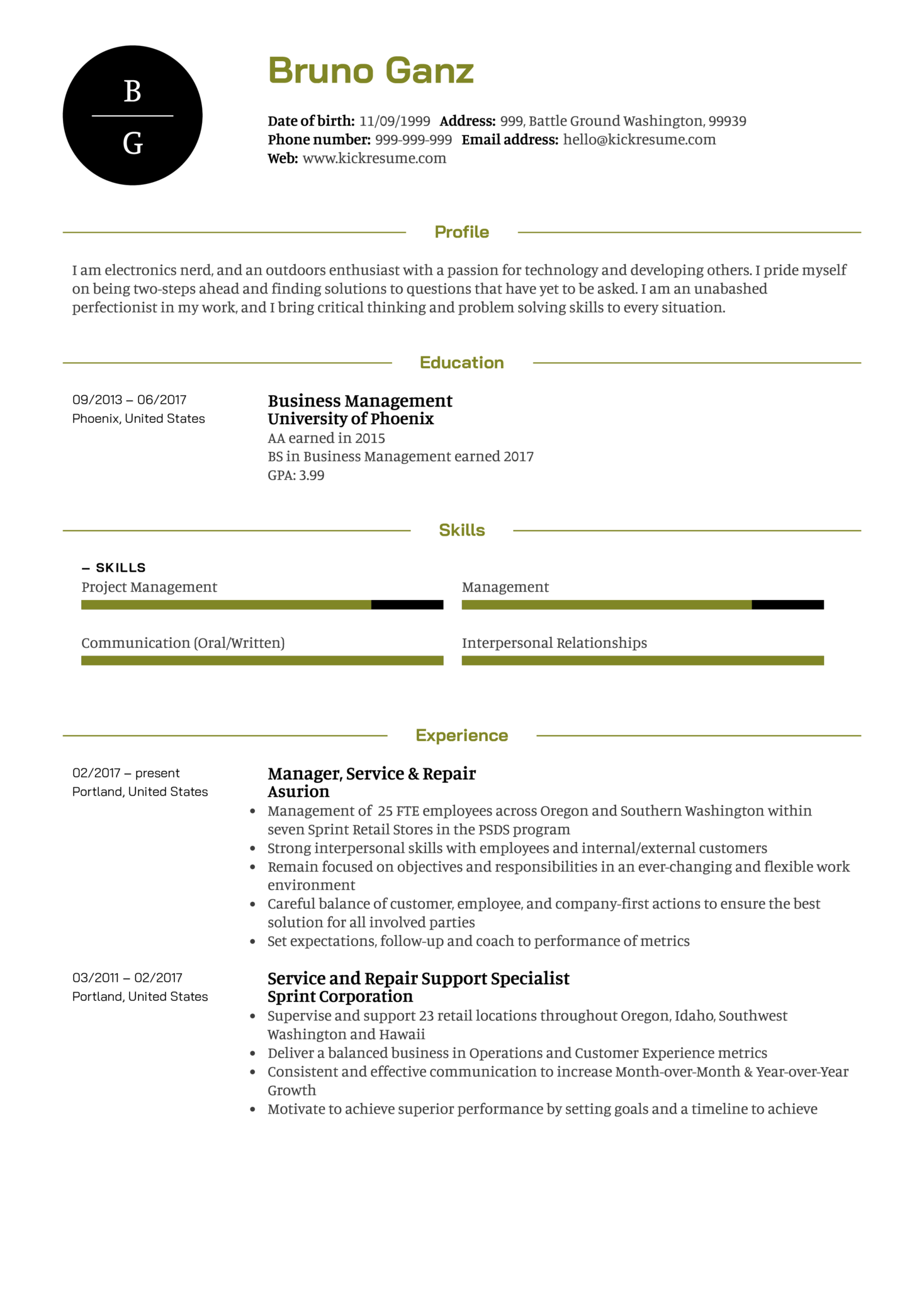 resume examples by real people  senior project manager resume example