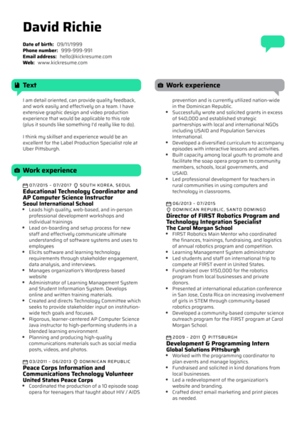 Uber Test Autonomy Analyst Resume example