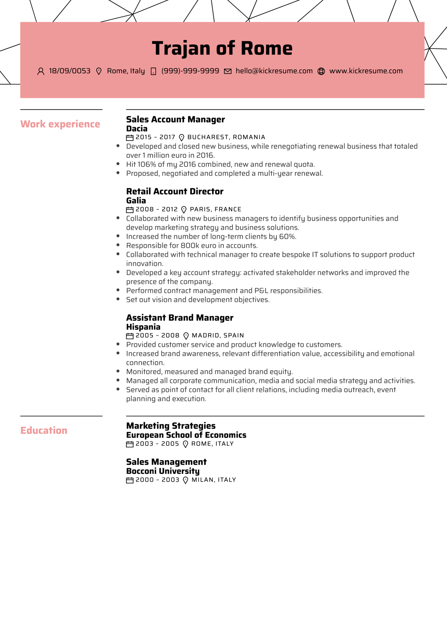 Sales Account Manager Resume Sample  Brand Manager Resume