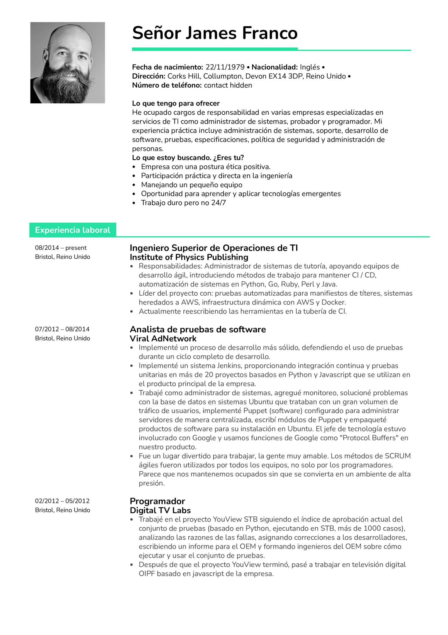 Resume Examples By Real People Ingeniero Superior De