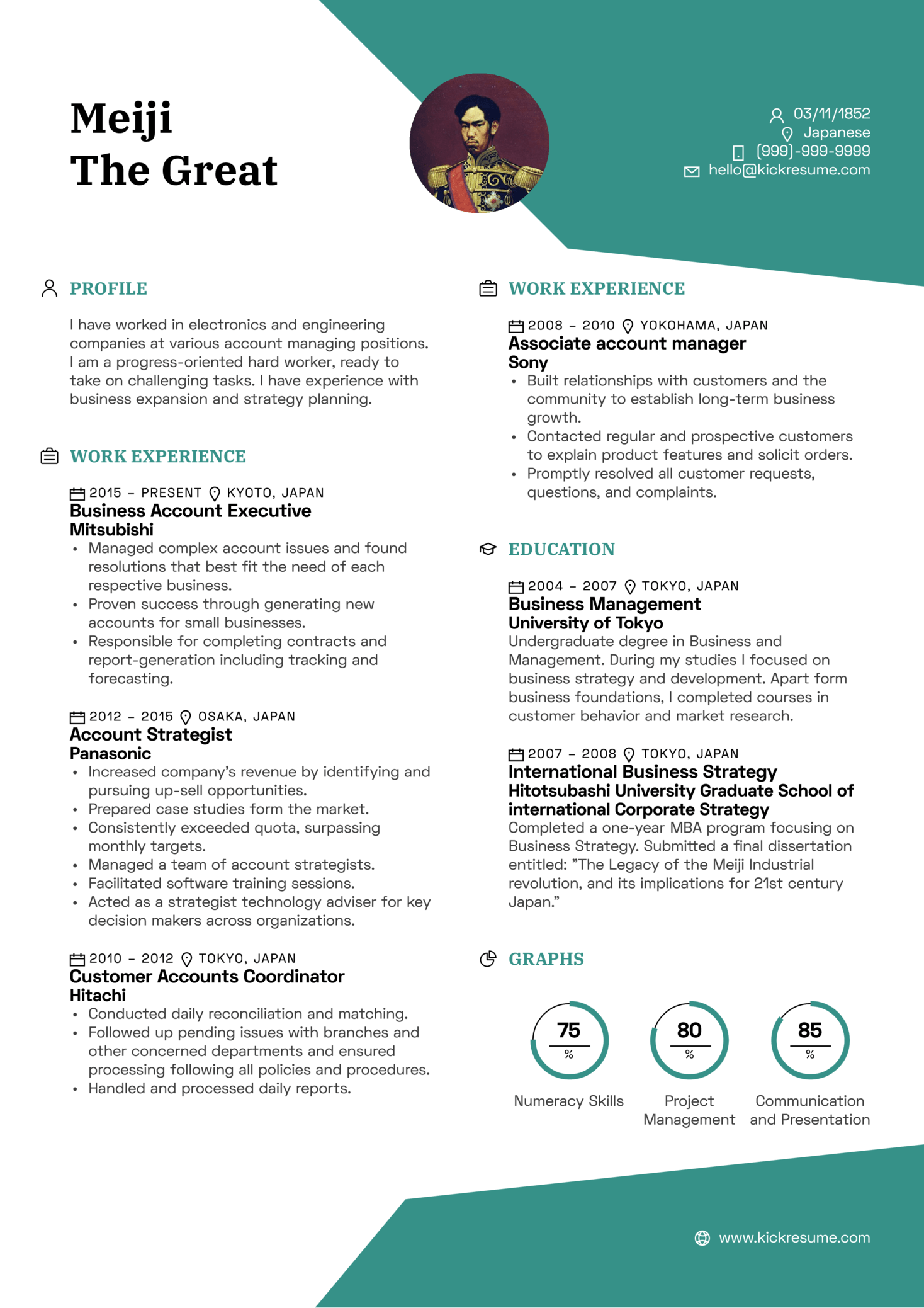 Good Business Executive Account Manager Resume Sample