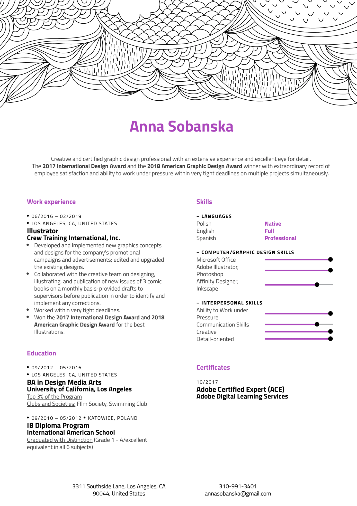 Resume Examples By Real People Illustrator Example