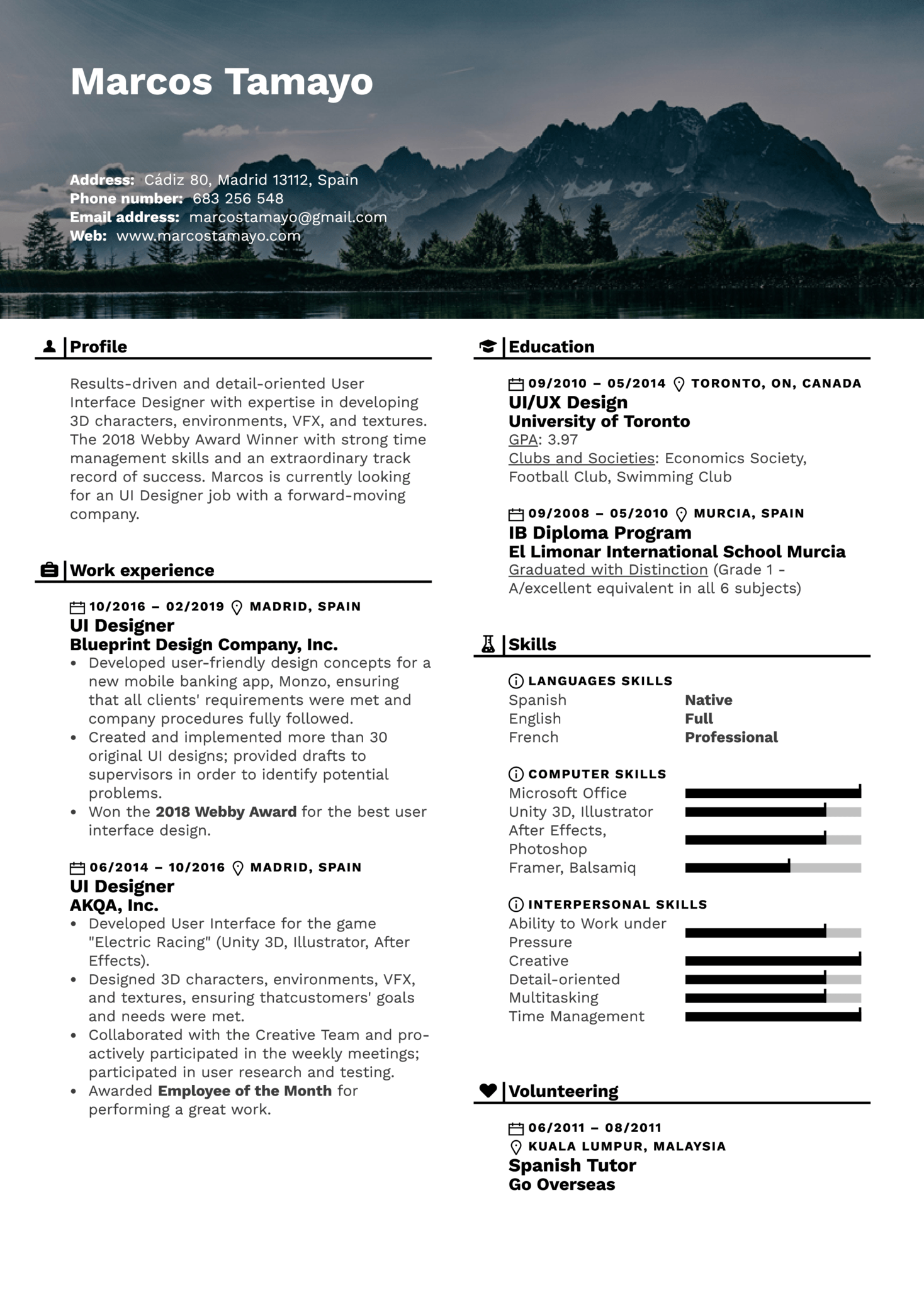 resume examples by real people  ui designer resume example