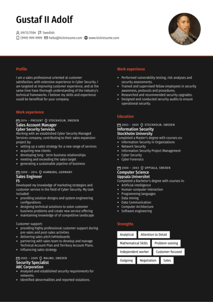 Cyber Security Account Manager Resume Sample