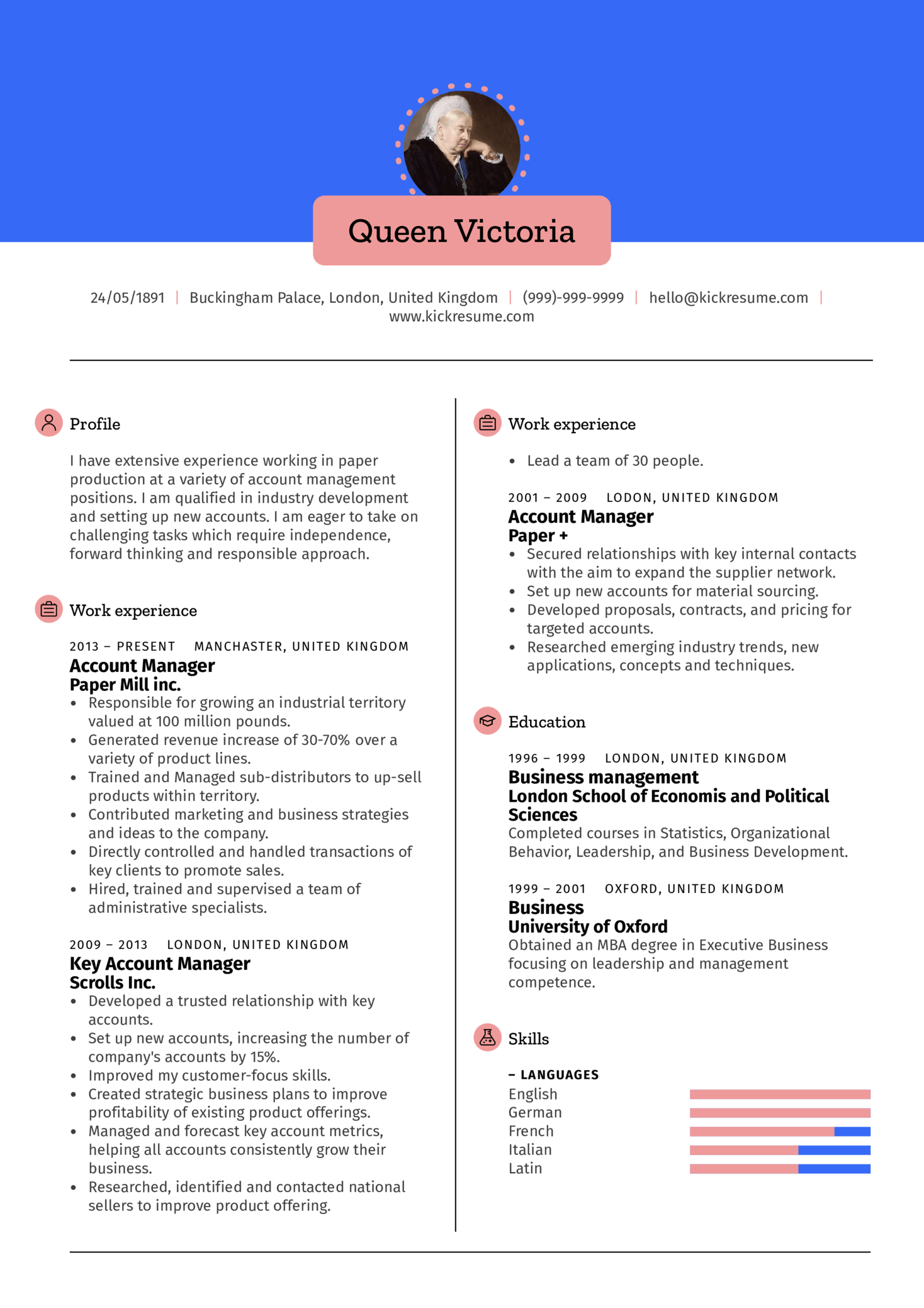 Engineering Account Manager Resume Sample Resume samples Career