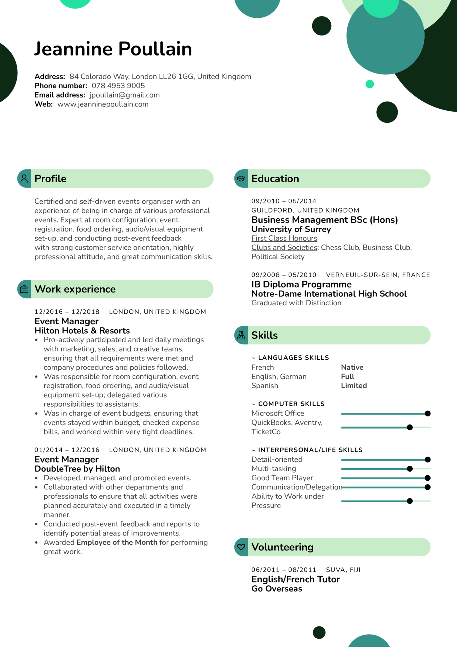 resume examples by real people  event manager resume