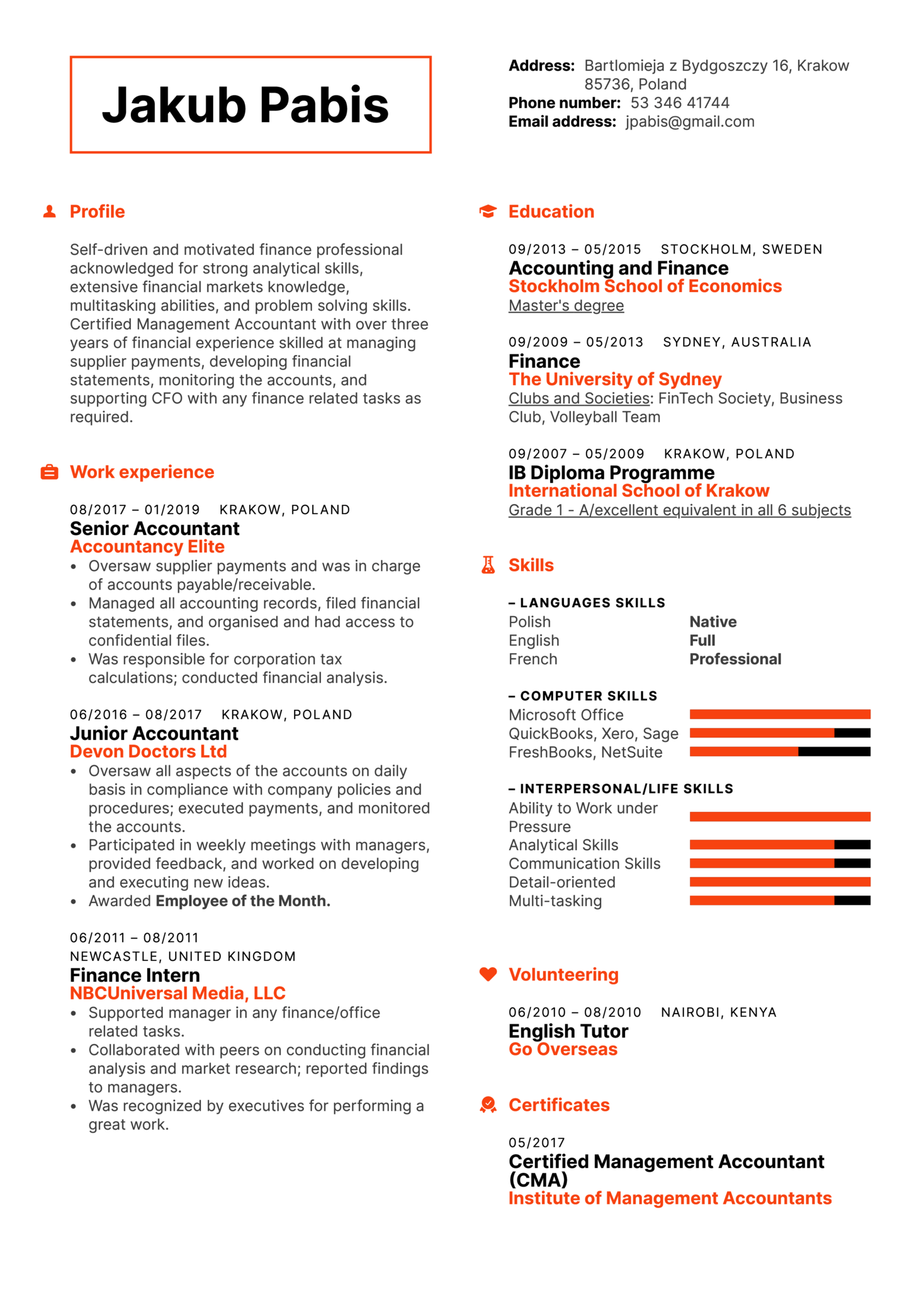 resume examples by real people  senior accountant resume template