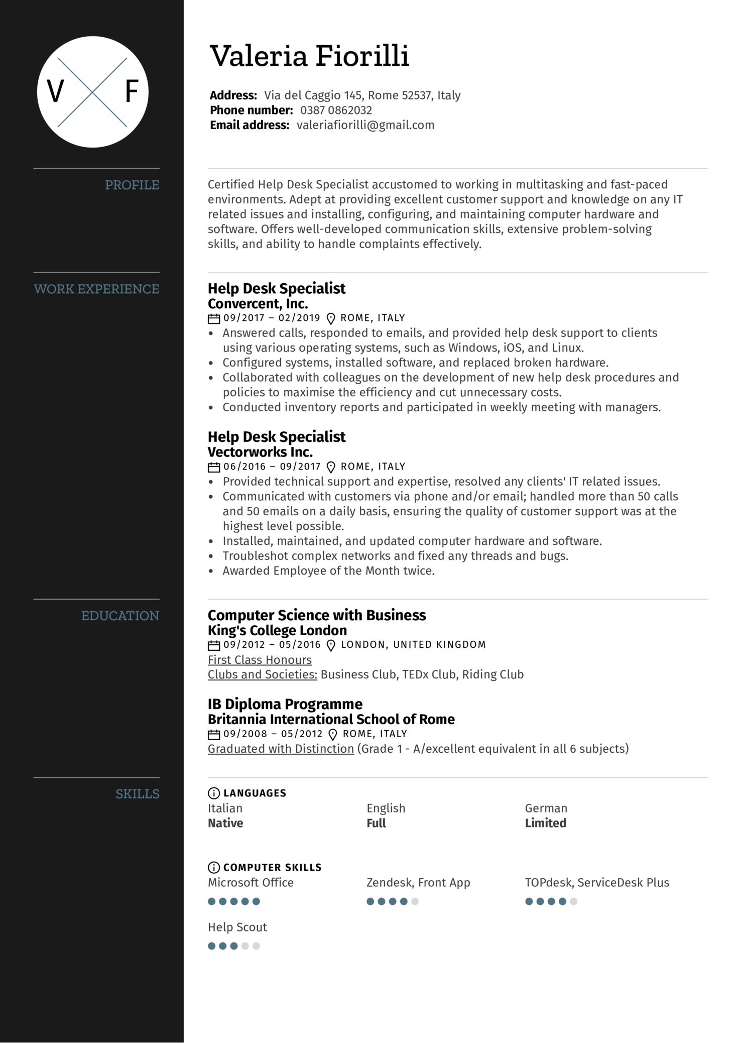 resume examples by real people  help desk specialist resume sample