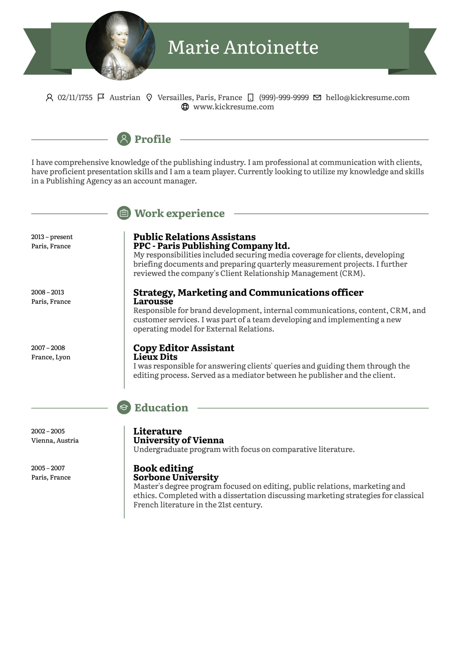 resume examples by real people  entry level account