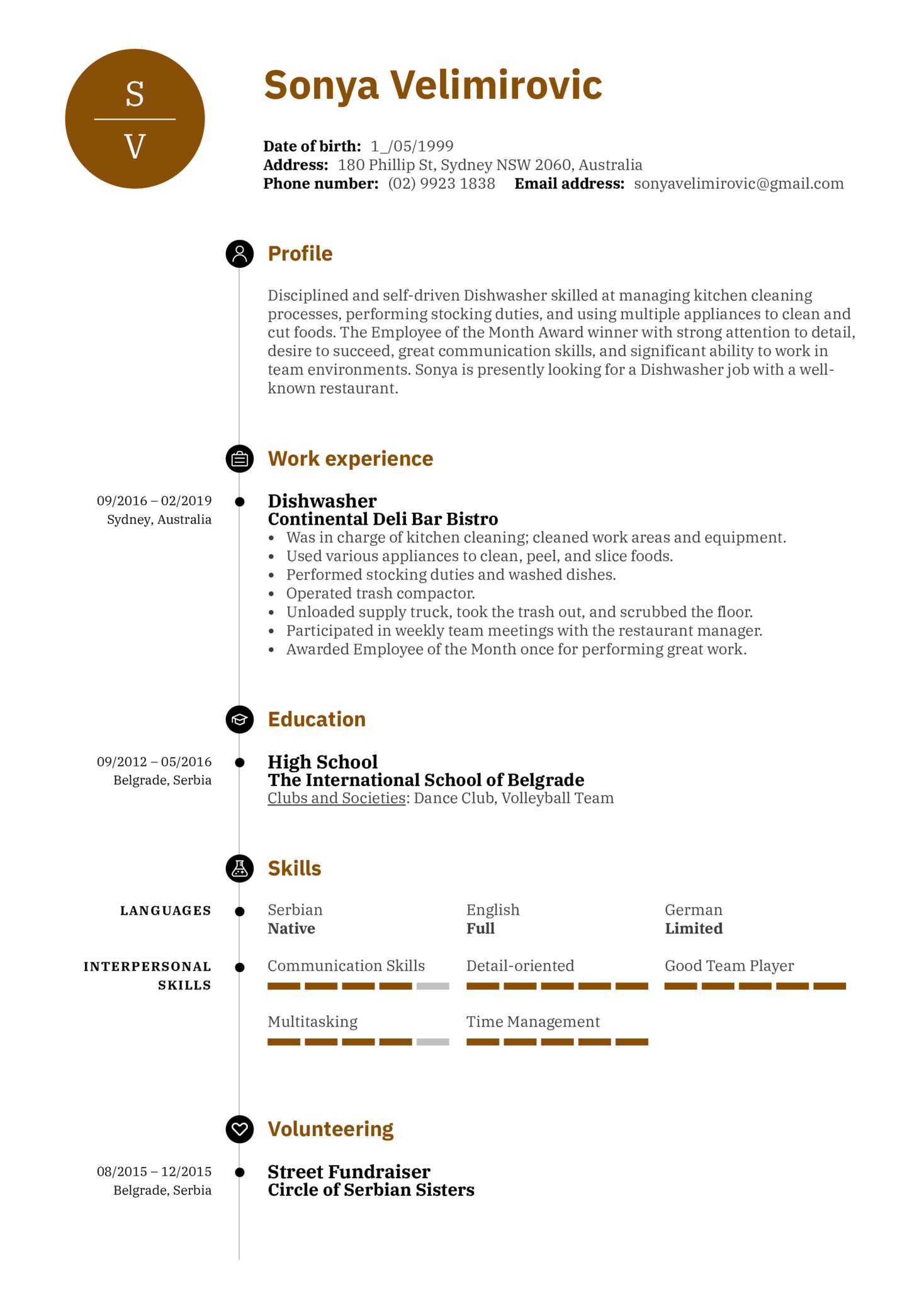 resume examples by real people  dishwasher resume sample