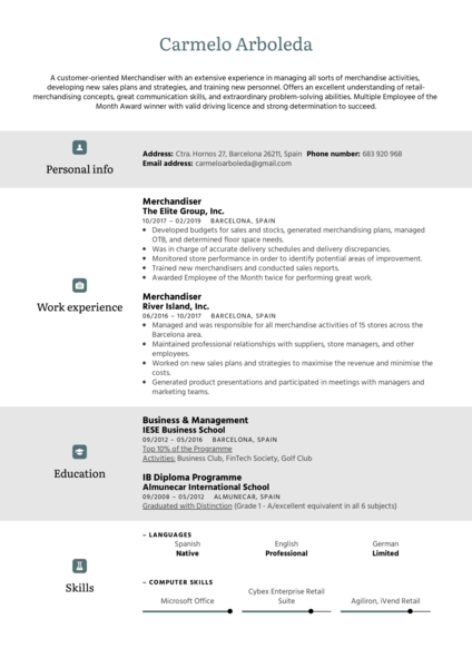 resume examples by real people  customer success manager