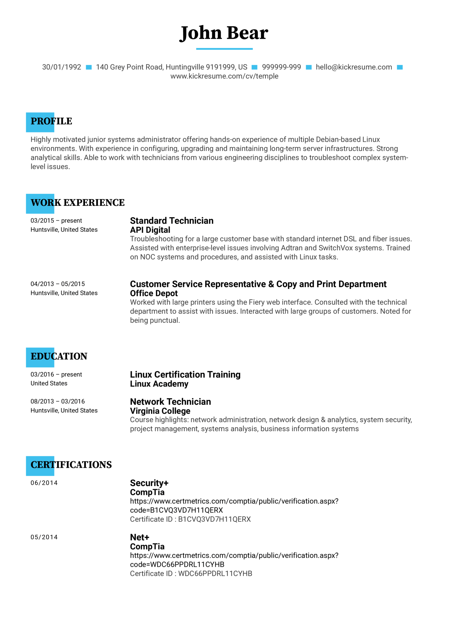 Resume Examples by Real People: Junior administrator resume ...