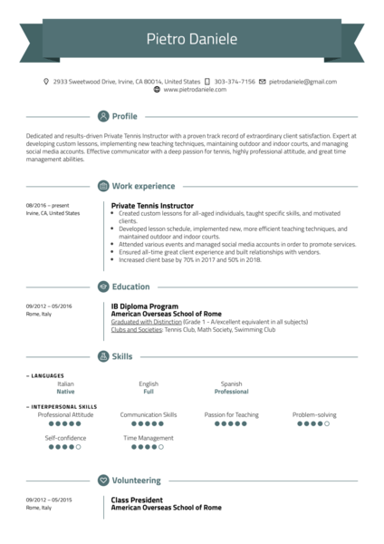 Education Resume Samples from Real Professionals Who got ...