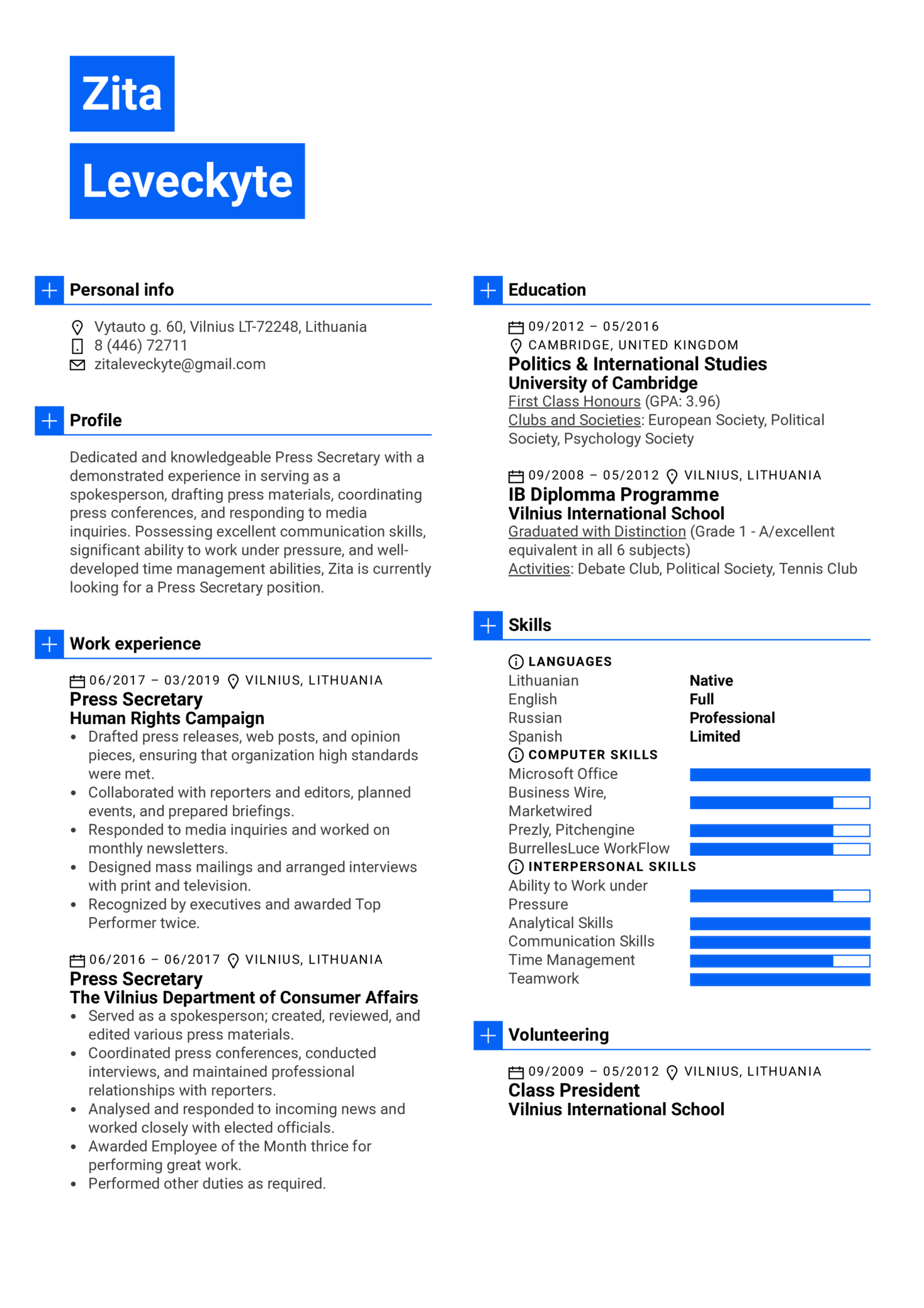resume examples by real people  press secretary resume