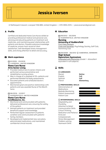 resume examples by real people  patient service
