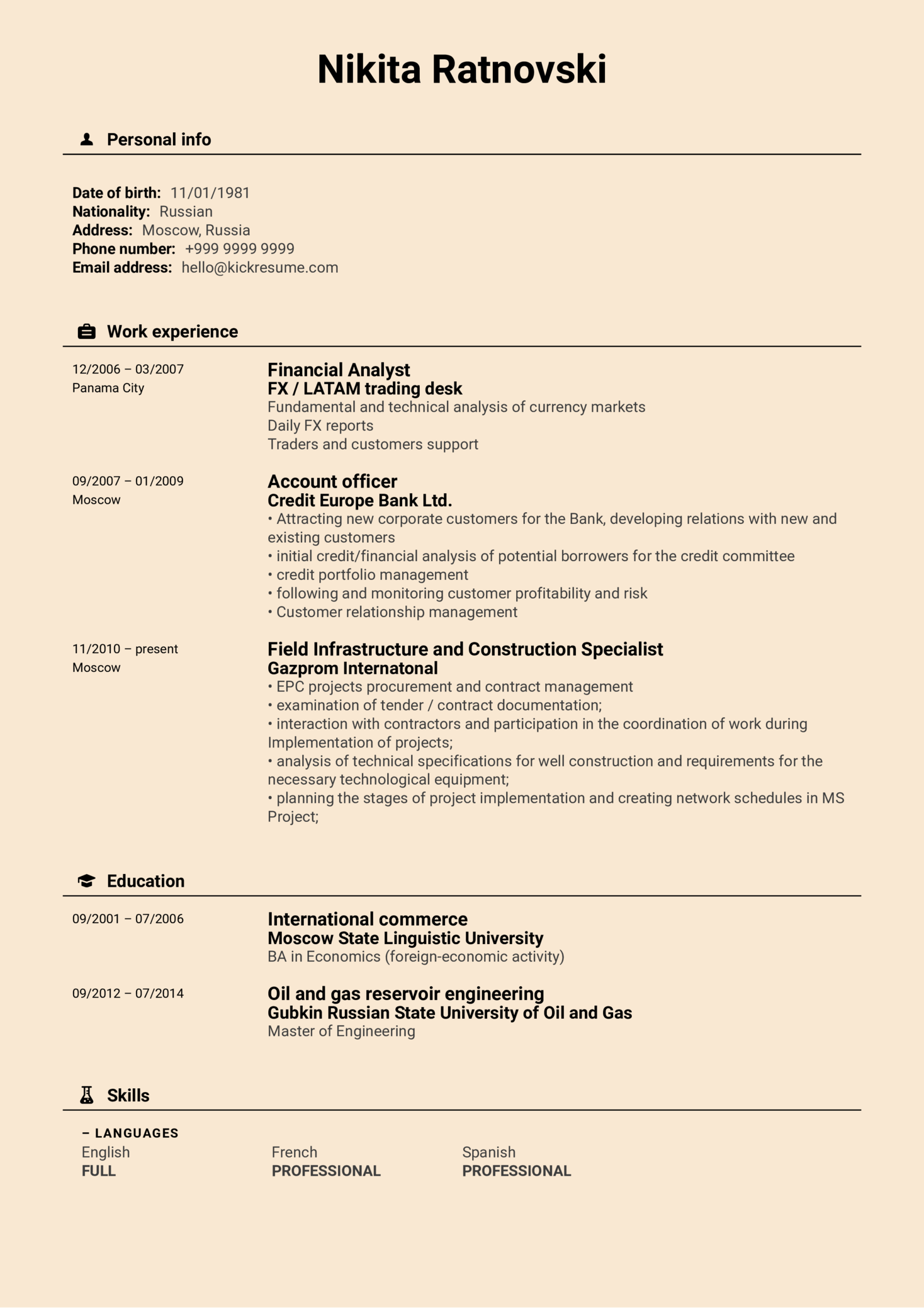 resume examples by real people  contract manager resume