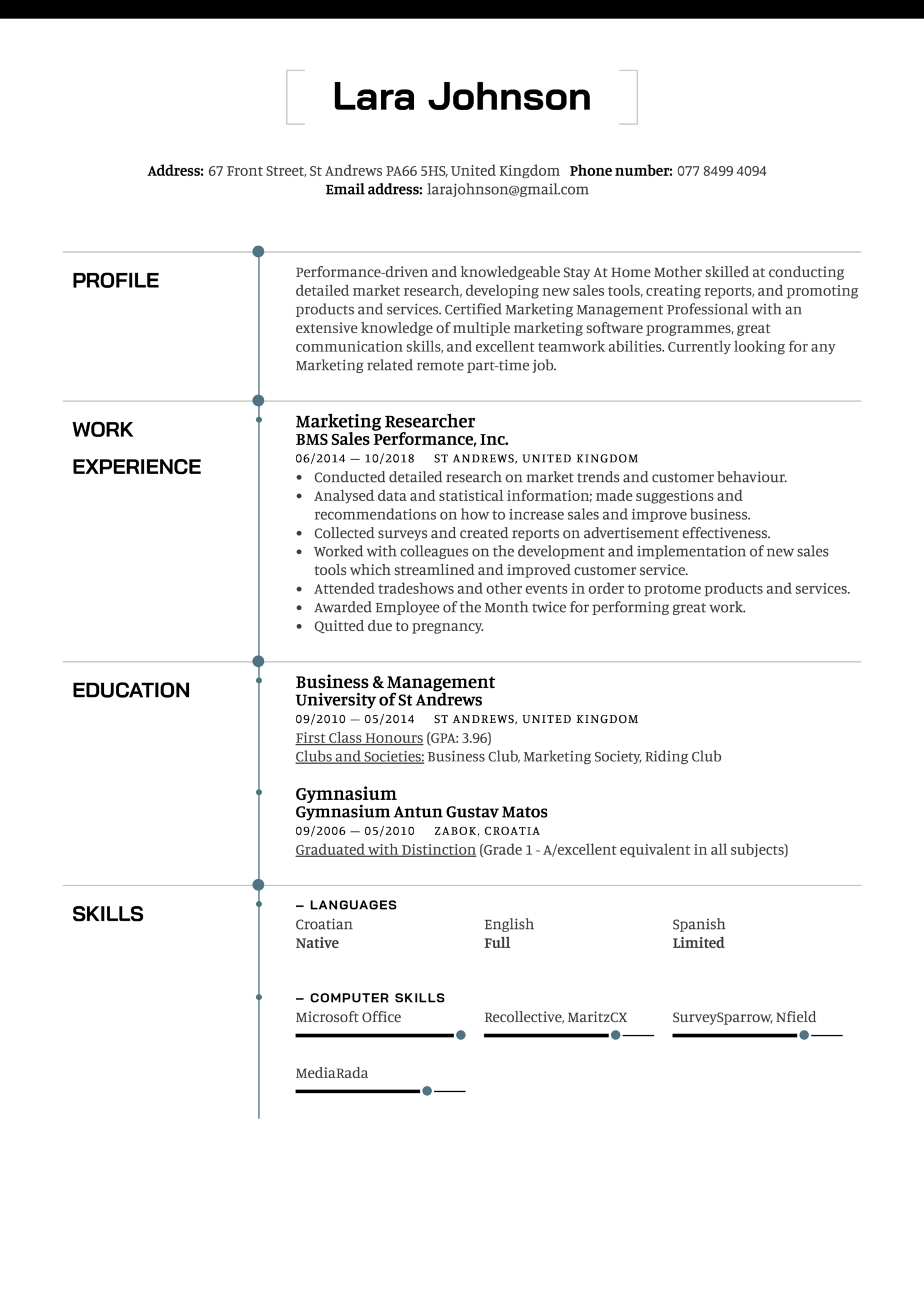 resume examples by real people  stay at home mother resume