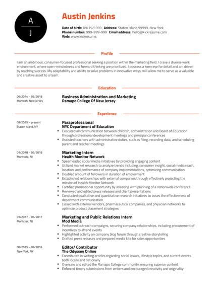 Project Coordinator at Ogilvy Health Resume Sample